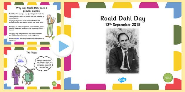 Roald Dahl Day Assembly PowerPoint Presentation