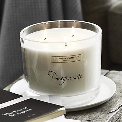 Pomegranate Large Candle | Candles | Home Fragrances | Candles & Fragrance | The White Company UK
