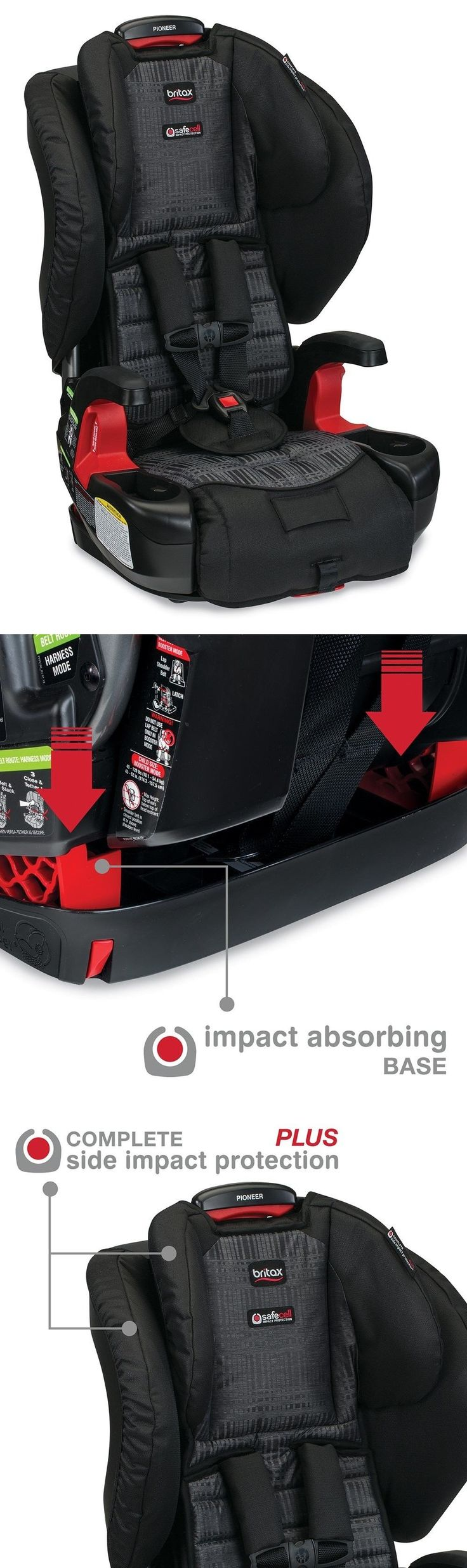 Booster to 80lbs 66694: Britax Pioneer Combination Harness -2- Booster Car Seat-Domino New -> BUY IT NOW ONLY: $180.96 on eBay!
