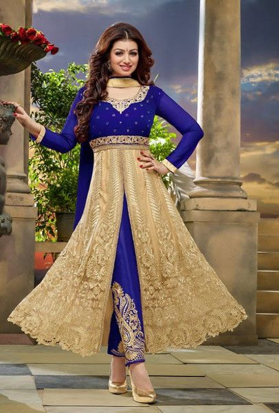 Blue Designer Suit - Desi Royale