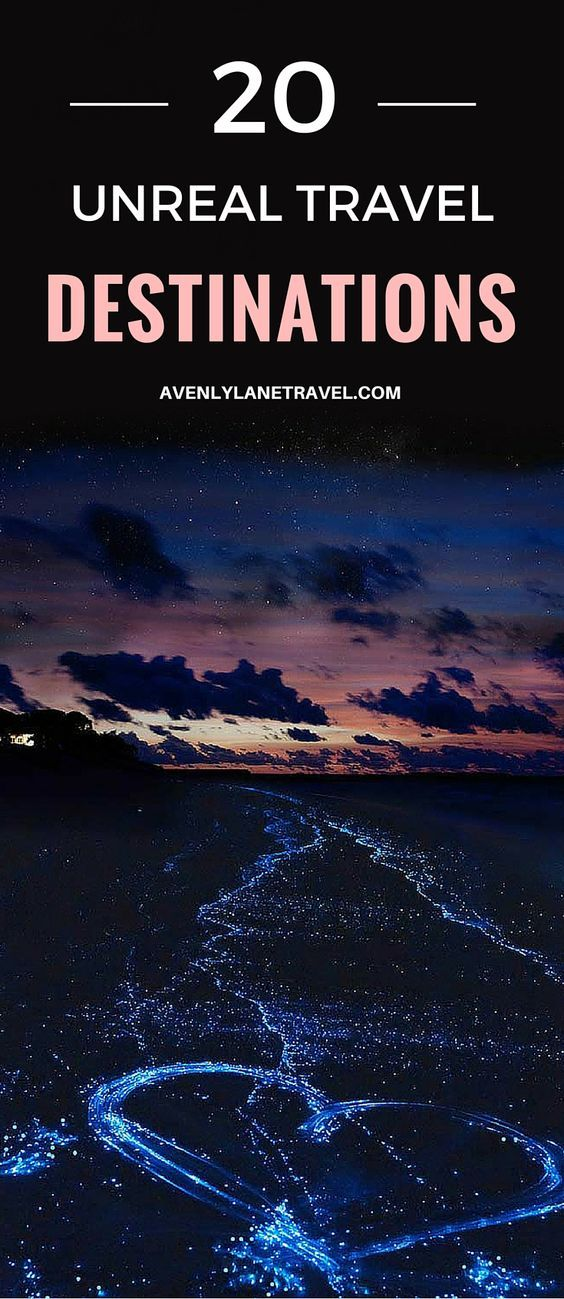 The sea of stars in the Maldives! One of the most beautiful bioluminescent bays in the world. Click through to see 20 more travel destinations you won't believe actually exist!