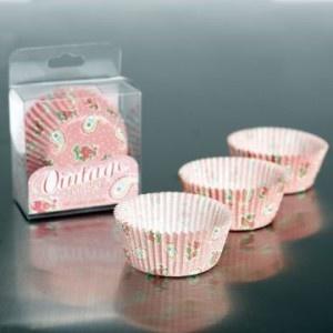 Moules papier pour cupcakes - Pink Paisley