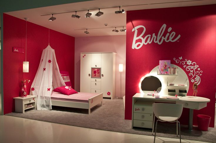 Pin On Kid Rooms: Enchanting Barbie Girl Bedroom Theme-ClickOB