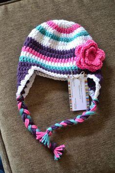 Knotty Knotty Crochet: super bulky striped hat FREE PATTERN! ~Love these colors!~