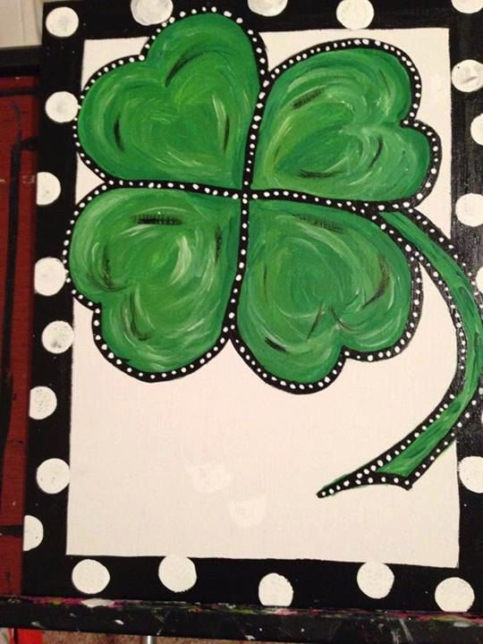 St Patricks Day Shamrock Door Decor with by DivineDesignsbyGena, $25.00