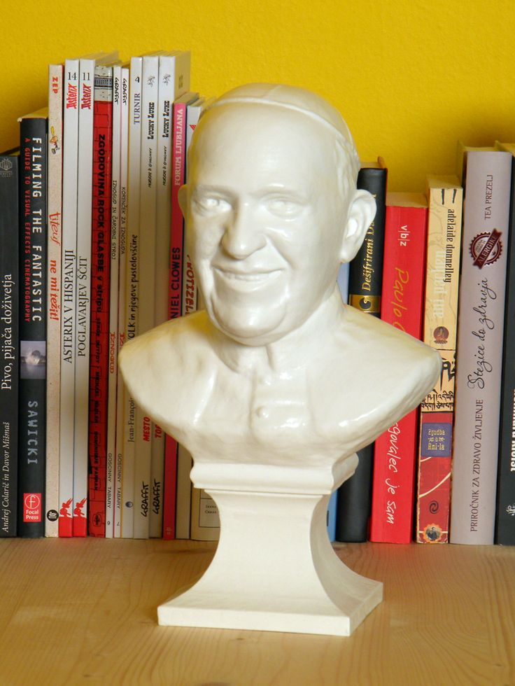 Statue of Pope Francis https://www.etsy.com/listing/463760138/bust-statue-of-pope-francis
