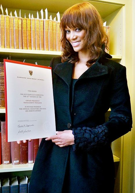 """""""Although Tyra Banks didn't earn a master's or doctoral degree from Harvard, she will still receive alumnus status."""""""