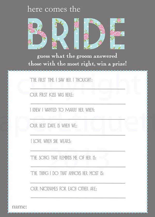 Bridal Shower Games Easy 25 suosittua ideaa Pinterestissä - prize winner letter template