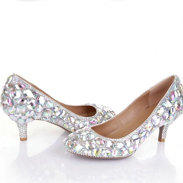 110.49$  Watch here - http://aliemy.worldwells.pw/go.php?t=32350927585 - Glitter AB Crystal Party Prom Shoes 6cm Middle Heel Bridal Wedding Dress Shoes Rhinestone Diamond Women Formal Dress Pumps