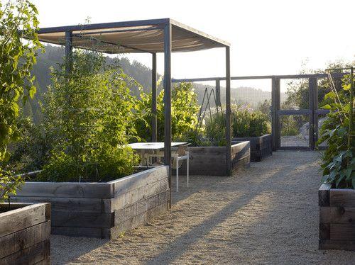 Blasen Gardens - modern - landscape - san francisco - Blasen Landscape Architecture- great idea to put a table out in the garden