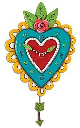 Special Offers - Allen Designs Amor Heart Pendulum Clock - In stock & Free Shipping. You can save more money! Check It (April 19 2016 at 03:24AM) >> http://wallclockusa.net/allen-designs-amor-heart-pendulum-clock/