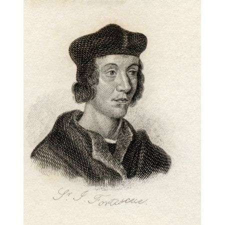 Sir John Fortescue Of Salden C1531 - 1607 Chancellor Of The Exchequer Of England From The Book Crabbs Historical Dictionary Published 1825 Canvas Art - Ken Welsh Design Pics (26 x 32)