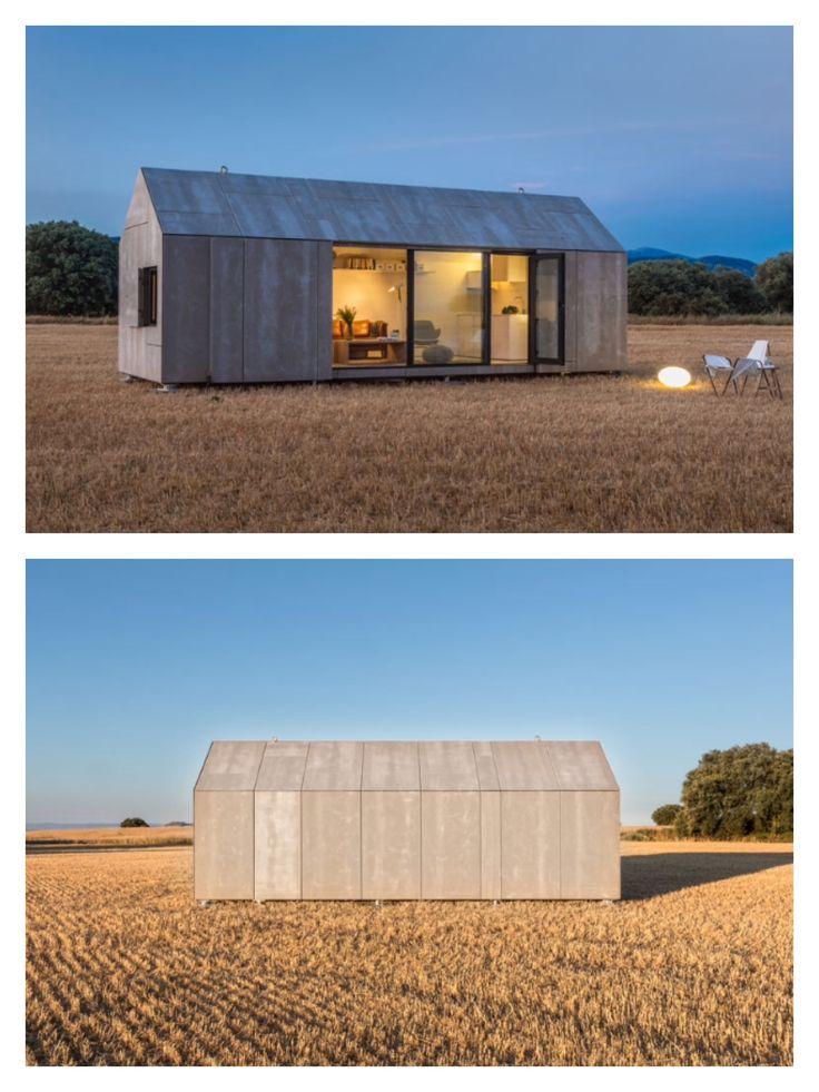 Via instagram.com/PrefabNsmallhomes   The 27sqm (290 sq ft) Portable Home ÁPH80 by #Madrid based #Spanish company ÁBATON