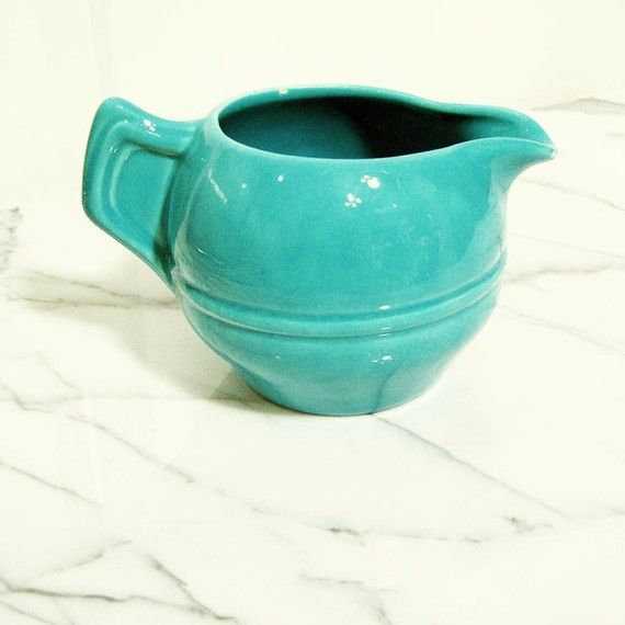 Items similar to Turquoise Pottery Creamer on Etsy. Find this Pin and more on solid color dinnerware ... & 53 best solid color dinnerware images on Pinterest | Dinner ware ...