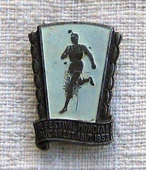 COCKTAILVINTAGEBAZAAR: Insigna Festivalul Tineretului 1953 Bucharest, Youth Festival 1953 #bucharest #badges #collectibles #vintage