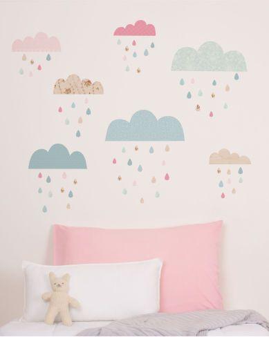 Rain Cloud Wall Decals Baby Nursery Design Kids Room