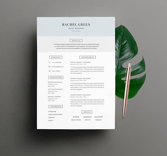 Modèle de CV RACHEL moderne & Lettre de motivation