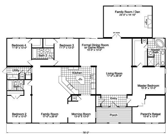 floor plans with open kitchen and family room | Fl…
