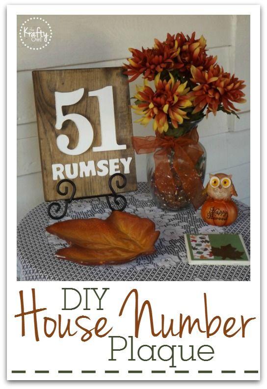 DIY House Number Plaque