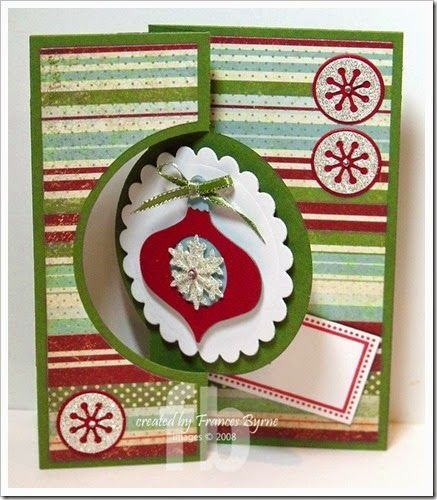 Merry Christmas created by Frances Byrne using Sizzix Ornament Triplits; Sizzix Circle Flip-Its Card #4