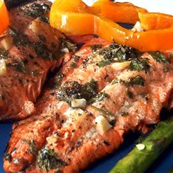 """Marinated Wild Salmon 