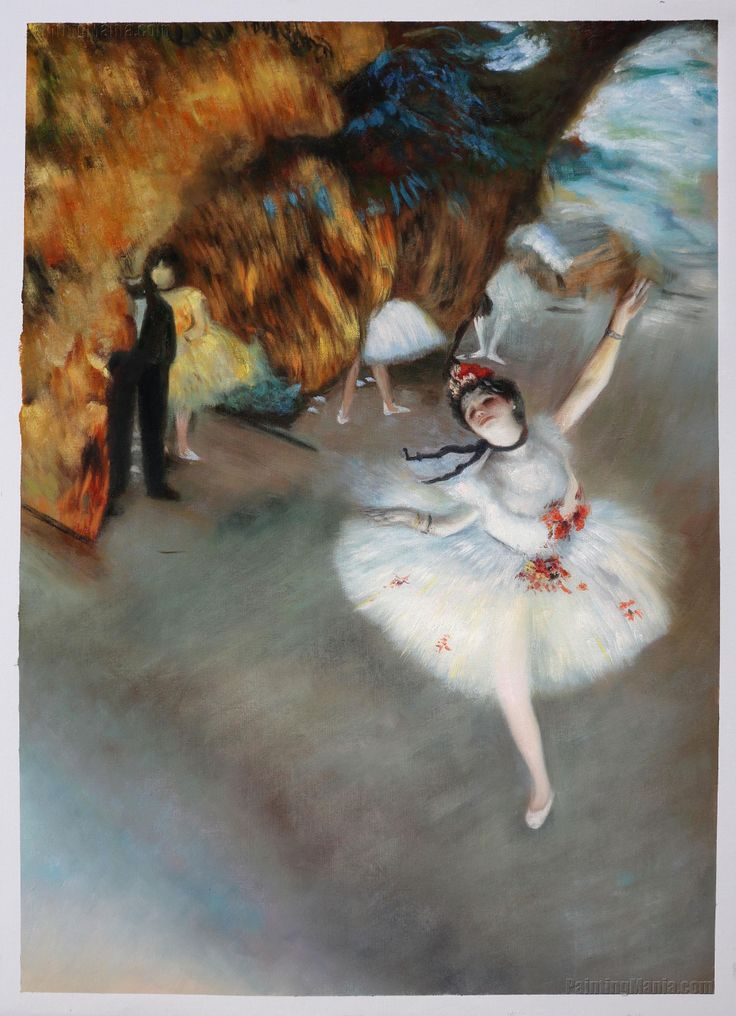 wall art Dancers in Blue c. Edgar Degas Paintings Hand