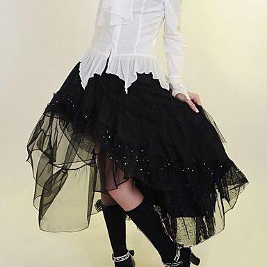 Piano di lunghezza nero Gothic Lolita gonna di cotone – EUR € 37.99