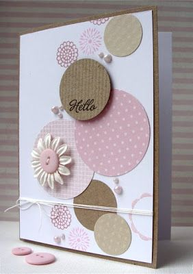 Circles Hello card - bjl