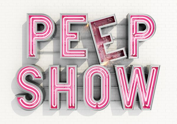 Peep Show Sign by AnotherExample