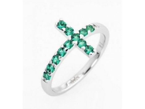 Amen Ring with Cross italian size14