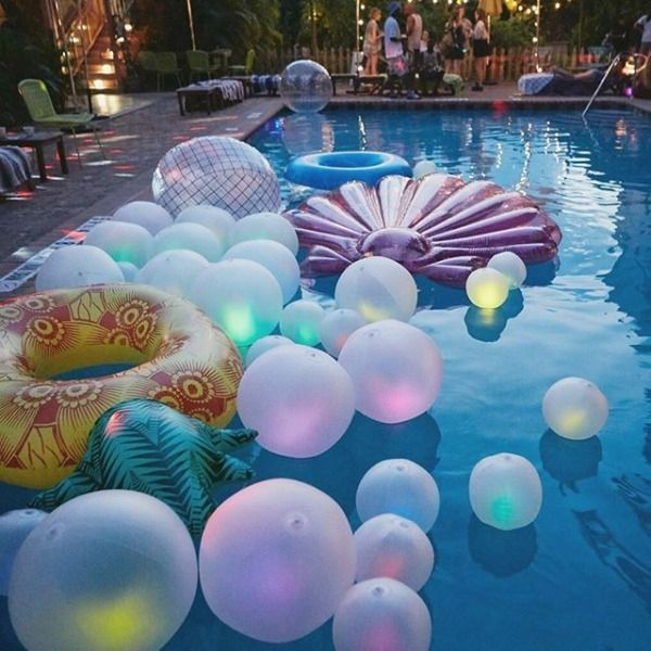 Pool Party Food Ideas For Teenagers hostess with the mostess teen pool party Glow Ball Pool Float Party Photographypool Funsummer