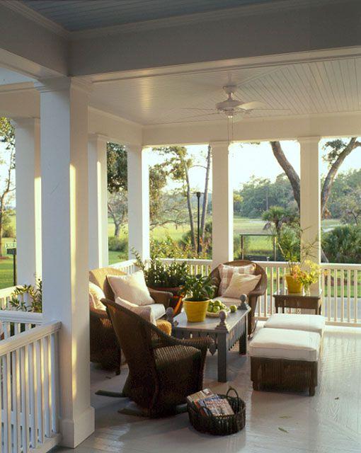 Love costal living carolina island house plan sl 481 for Wrap around verandah