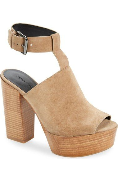 Color: Taupe Leather size 6 Rebecca Minkoff 'Cece' Platform Sandal (Women) available at #Nordstrom
