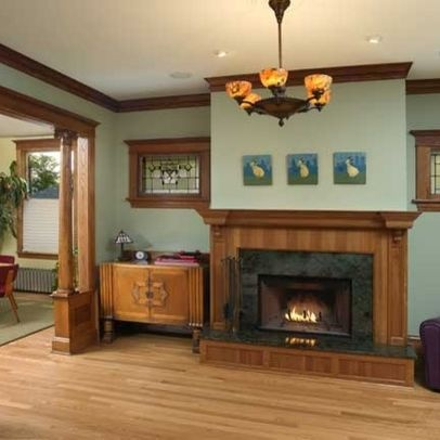 Living Room Dark Wood Trim Design Pictures Remodel Decor And Ideas