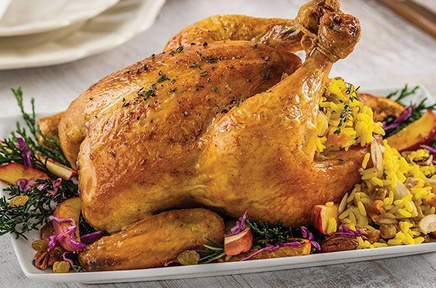 Pollo Relleno De Arroz Y Frutos Secos Receta Pollo Relleno Al Horno Pollo Relleno Como Hacer Pollo Relleno