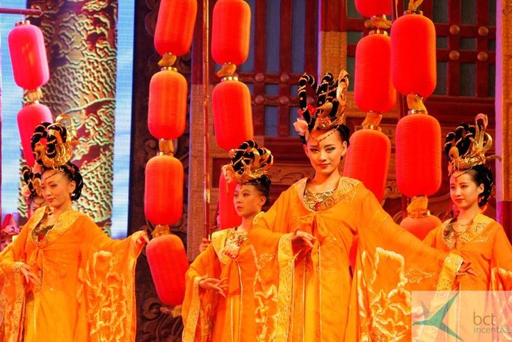 Pokaz kultury dynastii Tang/ Xi'an China