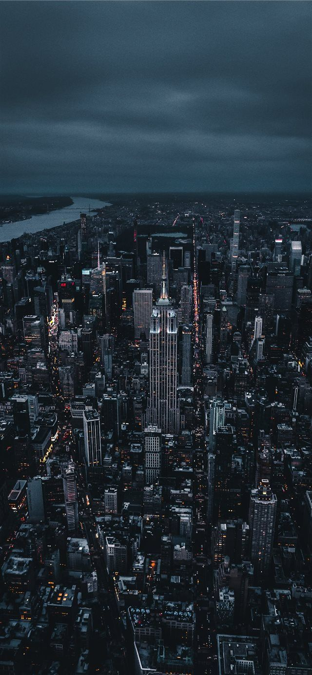 Empire State Building Iphone X Wallpaper Night Light Sky
