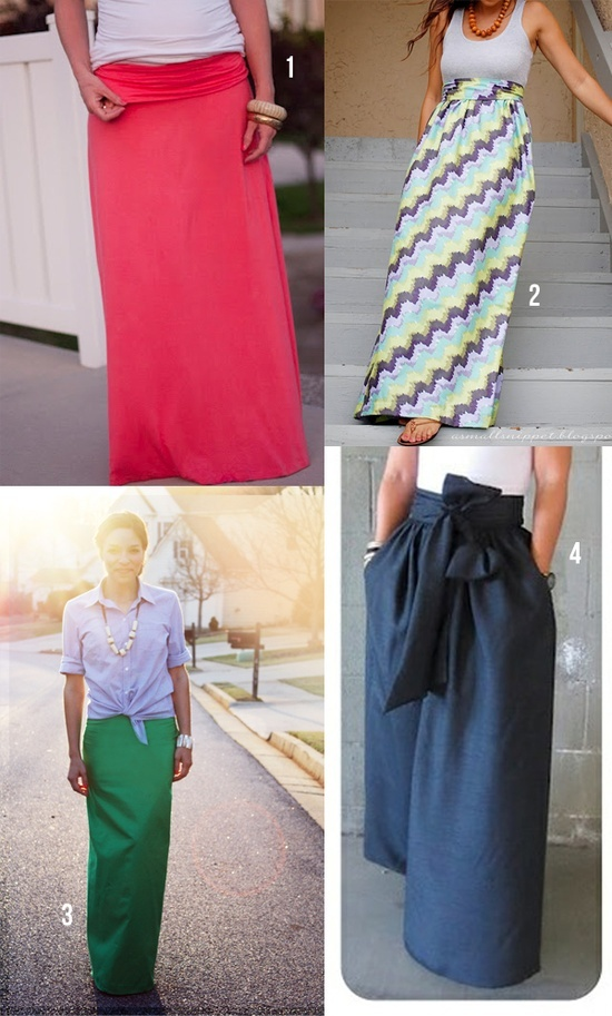 DIY maxi skirts. Love the tutorial on