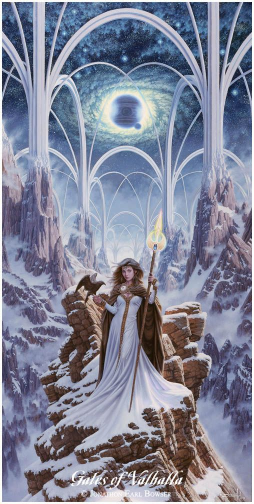 Gates of Valhalla - I soooo want an original Jonathon painting!