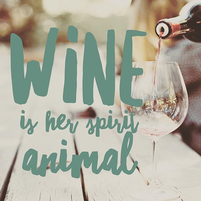 Wine Is Her Spirit Animal Because Lets Face It Is Always Win O Clock Somewhere Wine Winelover Winegirl Winematter Wine Wine Lovers Stemless Wine Glass