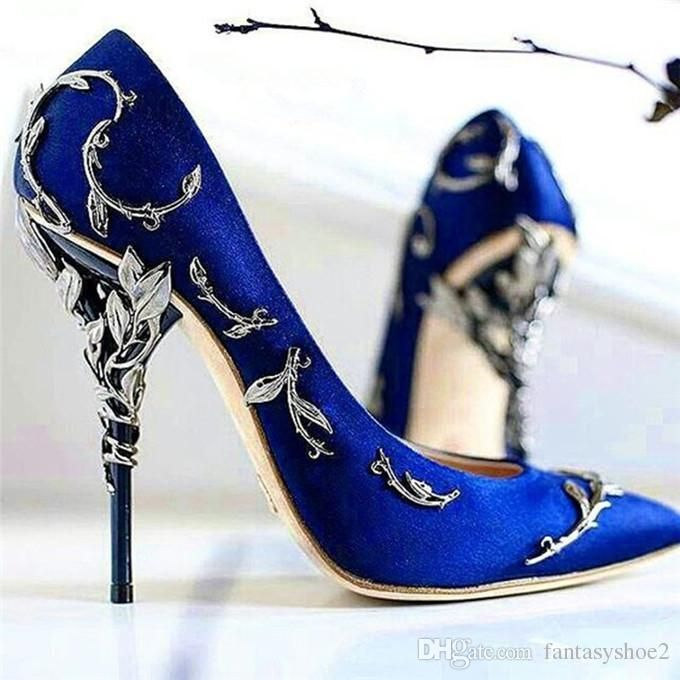 New Wedding Shoes Woman Pointed Toe High Heel Pumps Sexy Satin Witn Hollow Metal Collocation Stiletto Heel Party Shoes Moccasins For Men Suede Shoes From Fantasyshoe2, $65.88| Dhgate.Com #weddingshoes