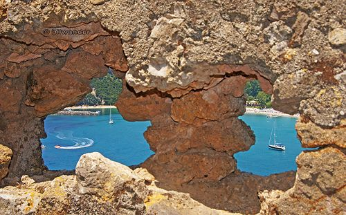 Greece, Parga, Chrysogiali bay view through the cracked wall of the castle | Flickr - Photo Sharing!