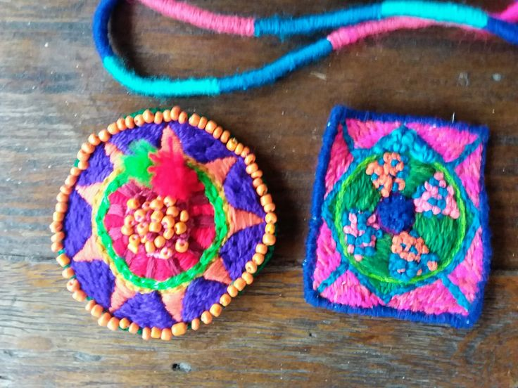 Using wool, beads and bright colours - something new