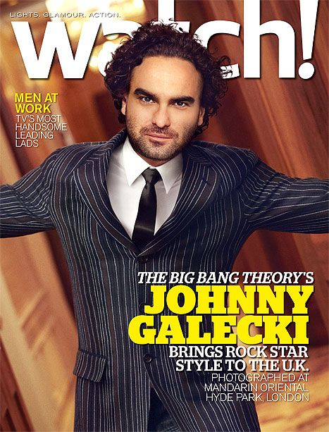 Big Bang Theory star Johnny Galecki covers the December issue of CBS Watch! magazine