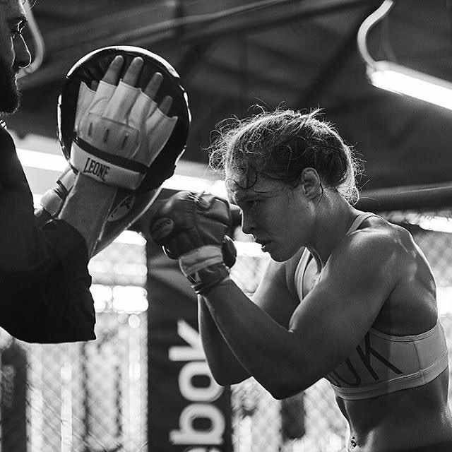 """WEBSTA @ instagram - For UFC (@ufc) fighter Ronda Rousey (@rondarousey), competing is as much of a mental challenge as it is a physical one. Ronda says """"redemption and revenge"""" serve as her motivators when she steps into the ring, but discipline is the key to her success. Ronda won a bronze medal competing in judo at the 2008 Beijing Olympics before becoming the first female fighter contracted by the UFC. Since then, her performance in the Octagon rocketed her to fame in the ring and…"""