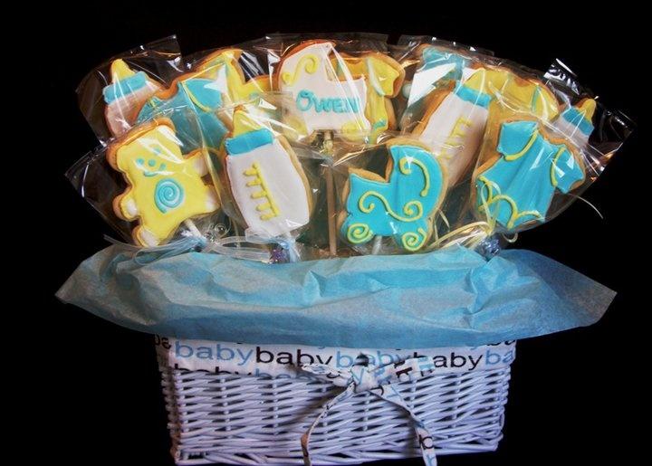 baby shower cookie bouquet