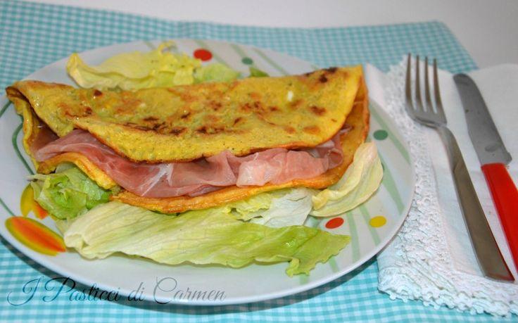 Omelette al prosciutto crudo