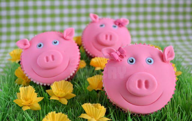 Op de boerderij: Varken cupcakes - Laura's Bakery