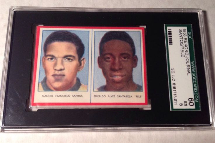 1958 Rejord Journal Series Panel RC card with  Pele rookie graded SGC 60 sells at auction for $379.00