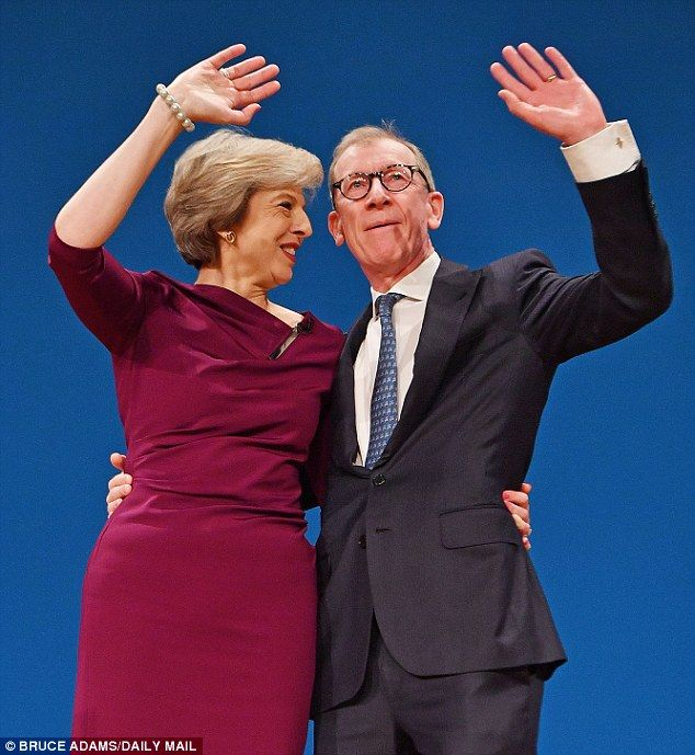 Theresa May has said that her husband Philip has been enjoying his role as the spouse of t...